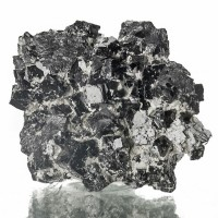 "1.6"" Brilliant Metallic CUBIC MAGNETITE Crystals to 8mm Balmat NY 1993 for sale"