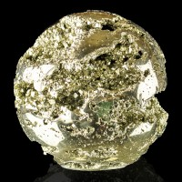 "3.3"" Diameter Brassy Golden PYRITE BALL Polished to Bright Luster Peru for sale"