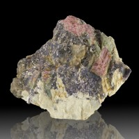 "3.2"" Red&Green WATERMELON TOURMALINE Crystal in Matrix Strickland Q CT for sale"