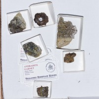 Wholesale Flat OliveGreen ANDRADITE GARNET Crystals 6pieces @$4 Arizona for sale