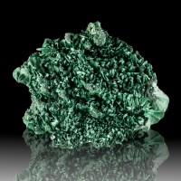 "6.4"" ShinyChatoyant FanShaped Acicular FIBROUS MALACHITE Crystals Congo for sale"