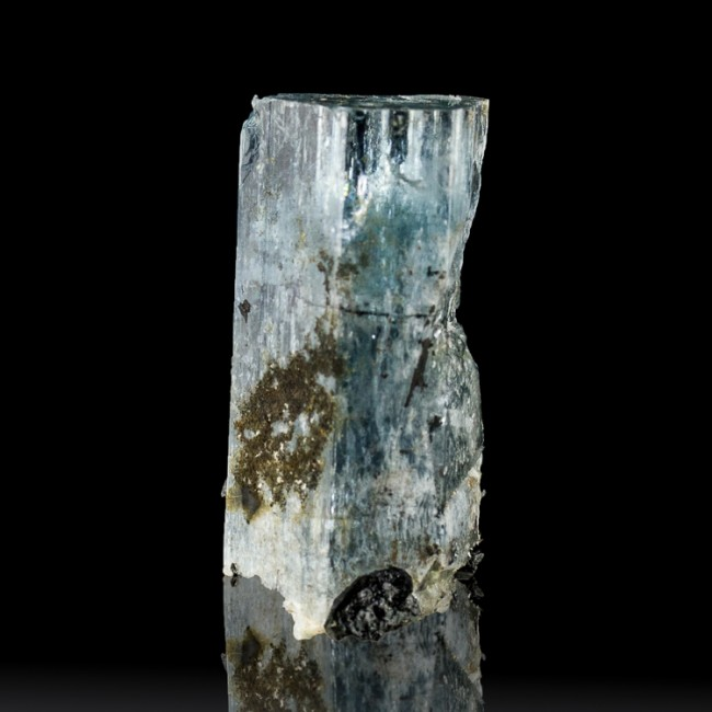 "1.5"" Terminated Blue AQUMARINE Crystals w/Jet Black TOURMALINE Namibia for sale"