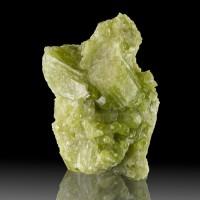 """2.5"""" NeonGreen VESUVIANITE Sharp Gemmy Crystals to .8"""" Asbestos Quebec for sale"""