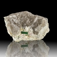 """4.5"""" Gem Quality GREEN TOURMALINE Crystal Can Cut 2Stones Havey Q Maine for sale"""