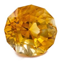 8.68ct 12.8mm RoundBrilliant ORANGE CITRINE CutGemstone Flawless Brazil for sale