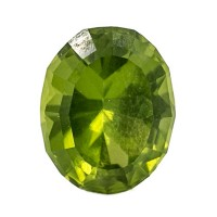 4.42ct 11.2mm Medium Light Green PERIDOT Oval Cut Gemstone AAA Pakistan for sale