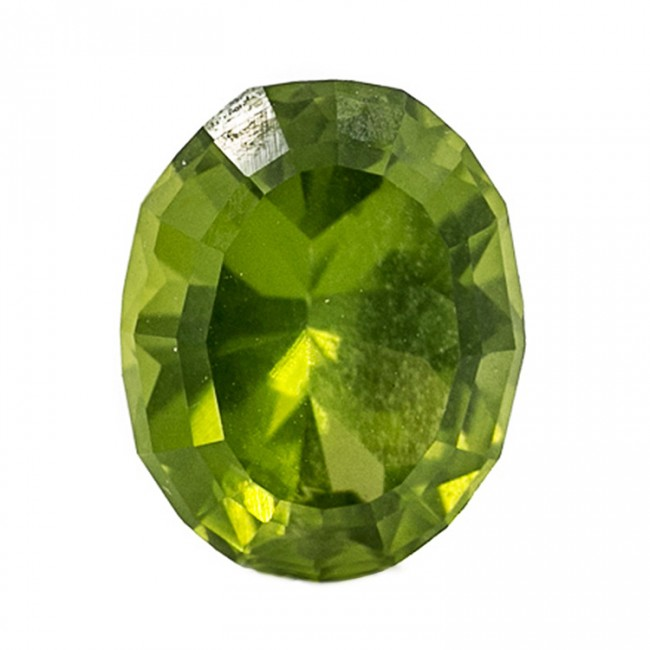 4.42ct 11.2mm Medium Light Green PERIDOT Oval Cut Gemstone AAA Pakistan for sale