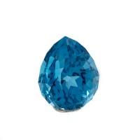 8.37ct 11.8mm NEON BLUE TOPAZ Pear Cut Gemstone AAA Flawless Brazil for sale