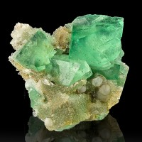 "2.4"" GREEN FLUORITE Octahedral Crystals to 1.2"" JellyBeanGreen S.Africa for sale"