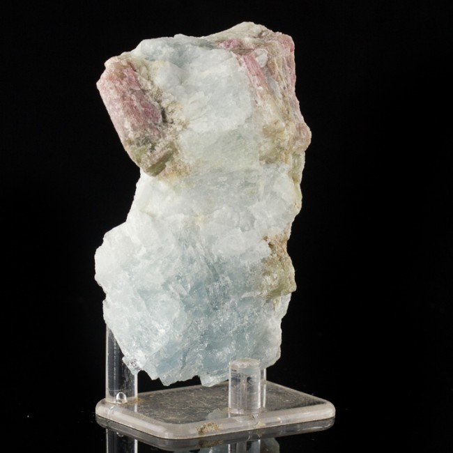 "3.7"" ColorfulMagenta PINK TOURMALINE Crystals in Blue Aquamarine Brazil for sale"