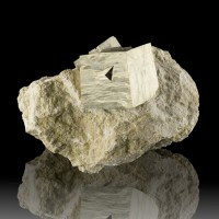 """4.4"""" Twinned PYRITE Group of 3 Crystals to 2.3"""" in LiteTan Matrix Spain for sale"""