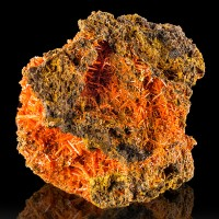 "2.8"" Adelaide Mine CROCOITE BrightRed Crystals inVugs onMatrix Tasmania for sale"