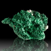 "6.1"" Scintillating Neon Green SILKY FIBROUS MALACHITE Crystals Congo for sale"