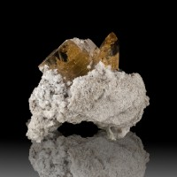 "1.3"" SHERRY TOPAZ Sharp Shiny Gem Clear Crystals on RhyoliteMatrix Utah for sale"