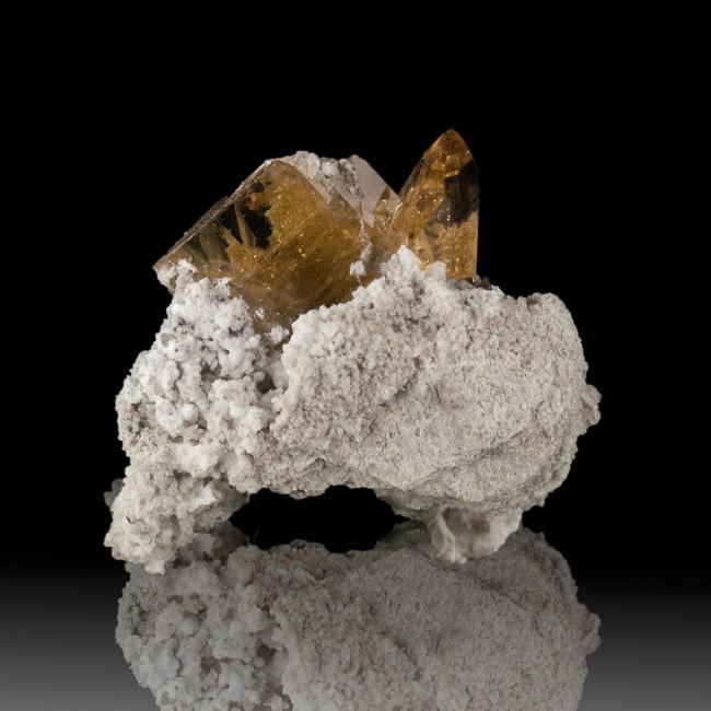 "1.3"" SHERRY TOPAZ Sharp Shiny Gem Clear Crystals on RhyoliteMatrix Utah for sale"