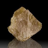 "1.7"" Golden Orange SCHEELITE Octahedral Crystal Wet-Look Luster China for sale"