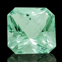 2.44ct 10.1mm GREEN FLUORITE GEMSTONE Flawless Square Cut Wise Mine NH for sale