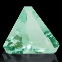 2.44ct 10.8mm Trigonal Cut AA++ GREEN FLUORITE GEMSTONE 100% Natural NH for sale