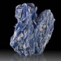 "5.8"" Shiny UltramarineBlue Bladed KYANITE Crystals +Milky Quartz Brazil for sale"