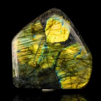 "5.2"" 4.8LB Iridescent Polished Turquoise& GOLDEN LABRADORITE Madagascar for sale"