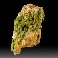 "2.5"" Wheatley Mine PYROMORPHITE Green Crystals on Matrix Pennsylvania for sale"