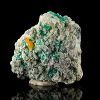 "2"" DIOPTASE w/WULFENITE Orange on Green Crystals Mammoth-St.Anthony AZ for sale"