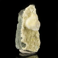 "3.4"" Fluffy White PUFFBALL OKENITE Crystal Ball on Matrix India for sale"