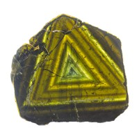 "6.2"" 935ct Gem LIDDICOATITE TOURMALINE Polished Slice w/Triangles 1948 for sale"