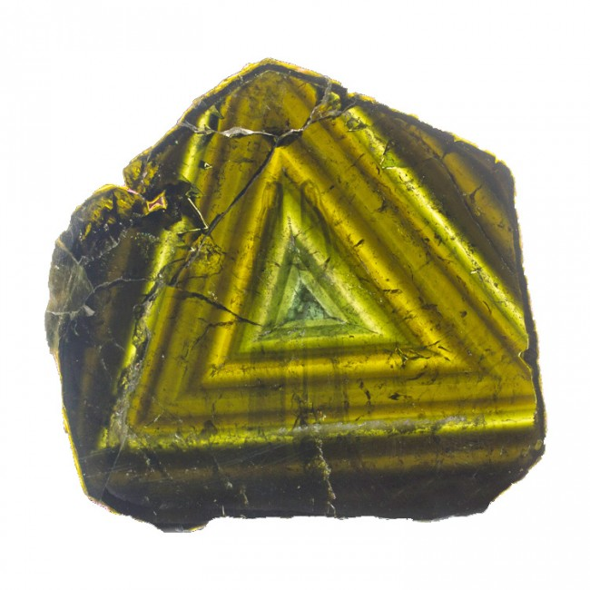 "6.2"" 935ct Gem LIDDICOATITE TOURMALINE Polished Slice w/Triangles 1948 for sale"