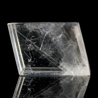 "3.8"" Polished Rhombohedron Crystal of ICELAND SPAR w/Rainbows Brazil for sale"