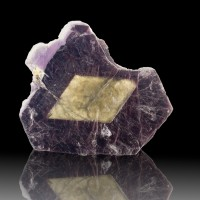 "3.3"" BICOLOR LEPIDOLITE Lavender Surrounding Silver Muscovite Brazil for sale"