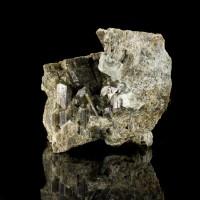 """2.8"""" DarkGreen Terminated VESUVIANITE Crystals w/Meionite Sanford Maine for sale"""