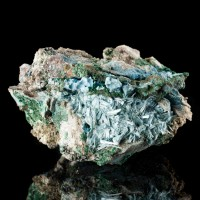 "4"" Rare Vivid TurquoiseBlue PLANCHEITE Crystals to.4"" Shinkolobwe Congo for sale"