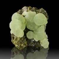 "2.5"" Hi-Contrast Mint Green Botryoidal PREHNITE on V.Dark EPIDOTE Mali for sale"