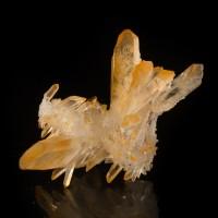 "3.4"" Brite Orange TANGERINE QUARTZ Terminated Crystals Pristine Morocco for sale"