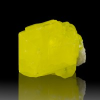 "1.2"" Butter Yellow Gemmy SULFUR Large Sharp Crystal Sicily Italy for sale"