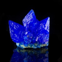 """3.2"""" Shiny Sharp Electric Blue CHALCANTHITE Crystals to 1.8"""" Poland for sale"""