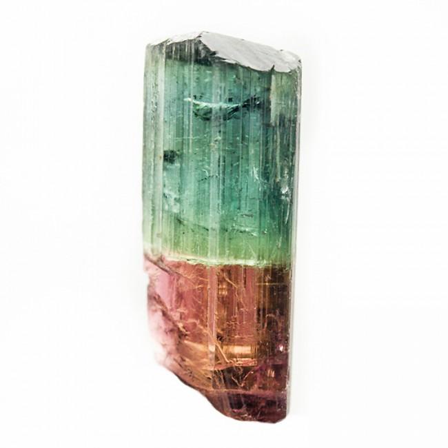 17.9mm 7.1ct Blue-Green &Magenta-Red BI-COLOR TOURMALINE Crystal Brazil for sale