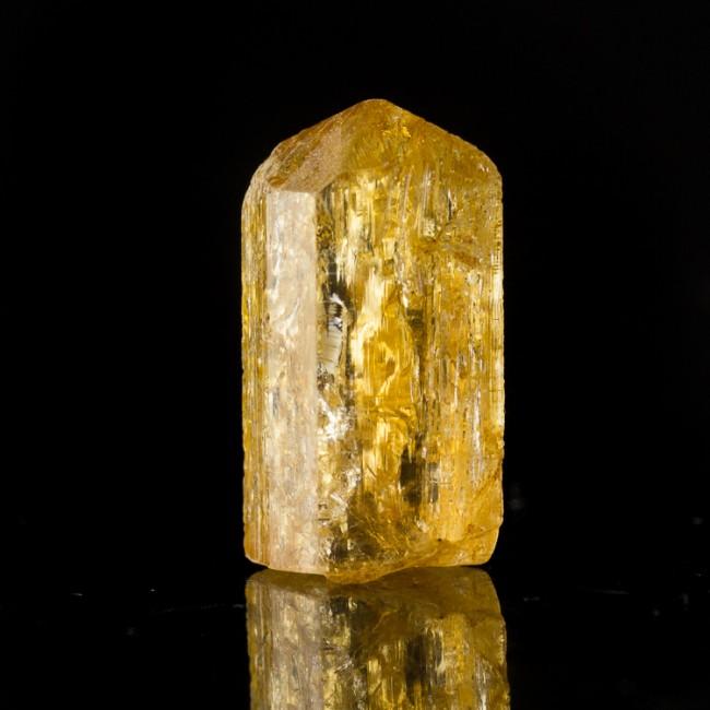 ".8"" 19.4ct Gem Orange IMPERIAL TOPAZ Crystal w/Internal Sparkles Brazil for sale"