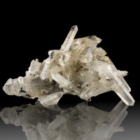 "7.4"" Intricate Multi-Crystal Cluster Clear TIBETAN QUARTZ Himalaya Mtns for sale"