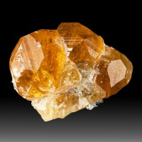 ".9"" Flashy Gemmy Orange GROSSULAR GARENT Sharp Crystals Asbestos Quebec for sale"