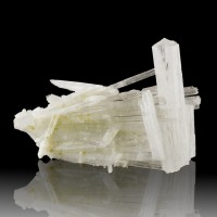 "4.4"" Stick Up Sprays of Clear SCOLECITE Sharp Radiating Crystals India for sale"