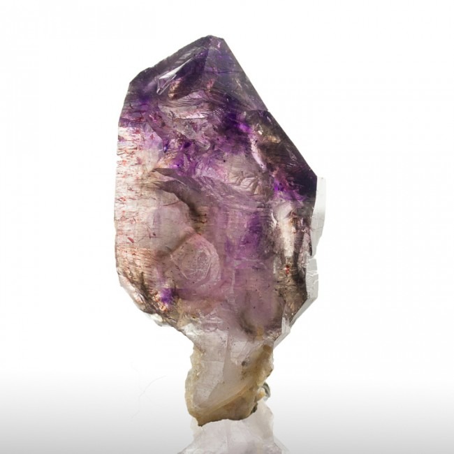 "2.6"" Elestial PHANTOM AMETHYST Crystal Sceptered on Thin Stem Zimbabwe for sale"