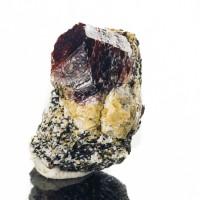 "1.3"" Sharp Gemmy Raspberry Jam RED SPINEL Crystals on Matrix Pakistan for sale"
