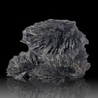 "4.8"" Fine Radiating 3D Sprays of Fan-Like BLACK KYANITE Crystals Brazil for sale"