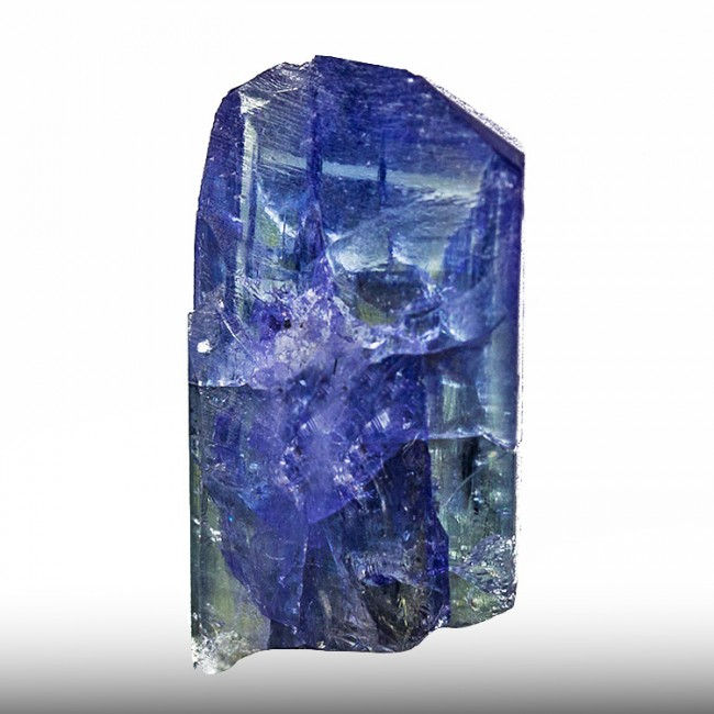 """1.1"""" 34.5ct Deep Blue with Violet TANZANITE Terminated Crystal Tanzania for sale"""