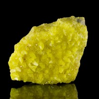 "5.3"" Sharp Twinkling Canary Yellow SULFUR Crystals on Matrix Bolivia for sale"