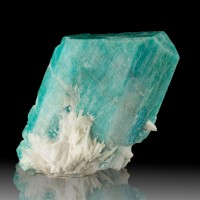"""2.4"""" Terminated NeonBlue AMAZONITE CRYSTAL +Cleavelandite Smoky Hawk CO for sale"""