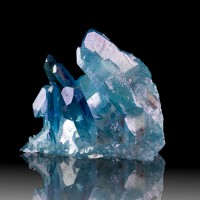 "3.2"" SkyBlue Iridescent AQUA AURA QUARTZ Undamaged Terminated Crystals for sale"