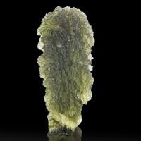 "1.8"" 65ct See-Thru Sea Green Gem MOLDAVITE w/Incised Markings Czech Rep for sale"